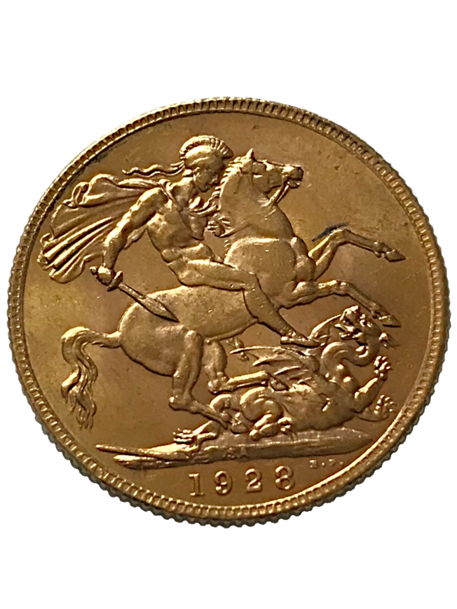 1928 George V Full Gold Sovereign SA