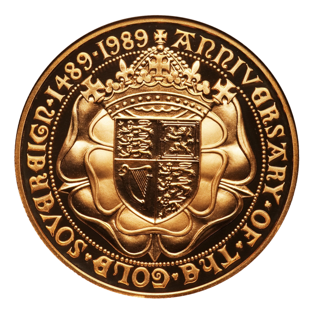 1989 Tudor Rose Gold £5 Sovereign Brilliant Uncirculated