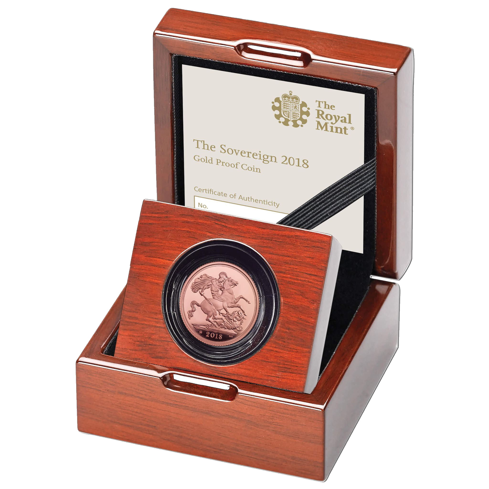 2018 Gold Sovereign Proof Coin, boxed and certificated