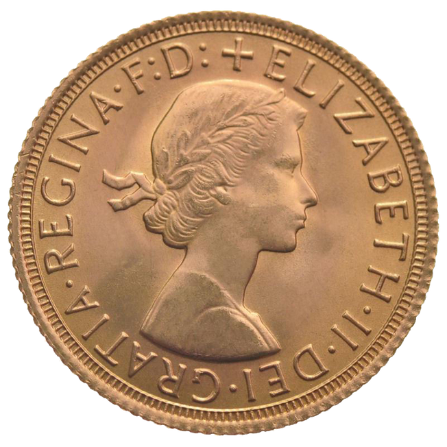 1957 Queen Elizabeth II Full Sovereign