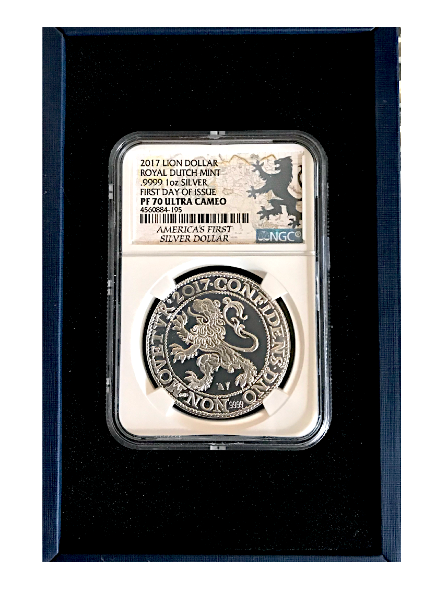 2017 Lion Dollar First Day Of Issue NGC PF70