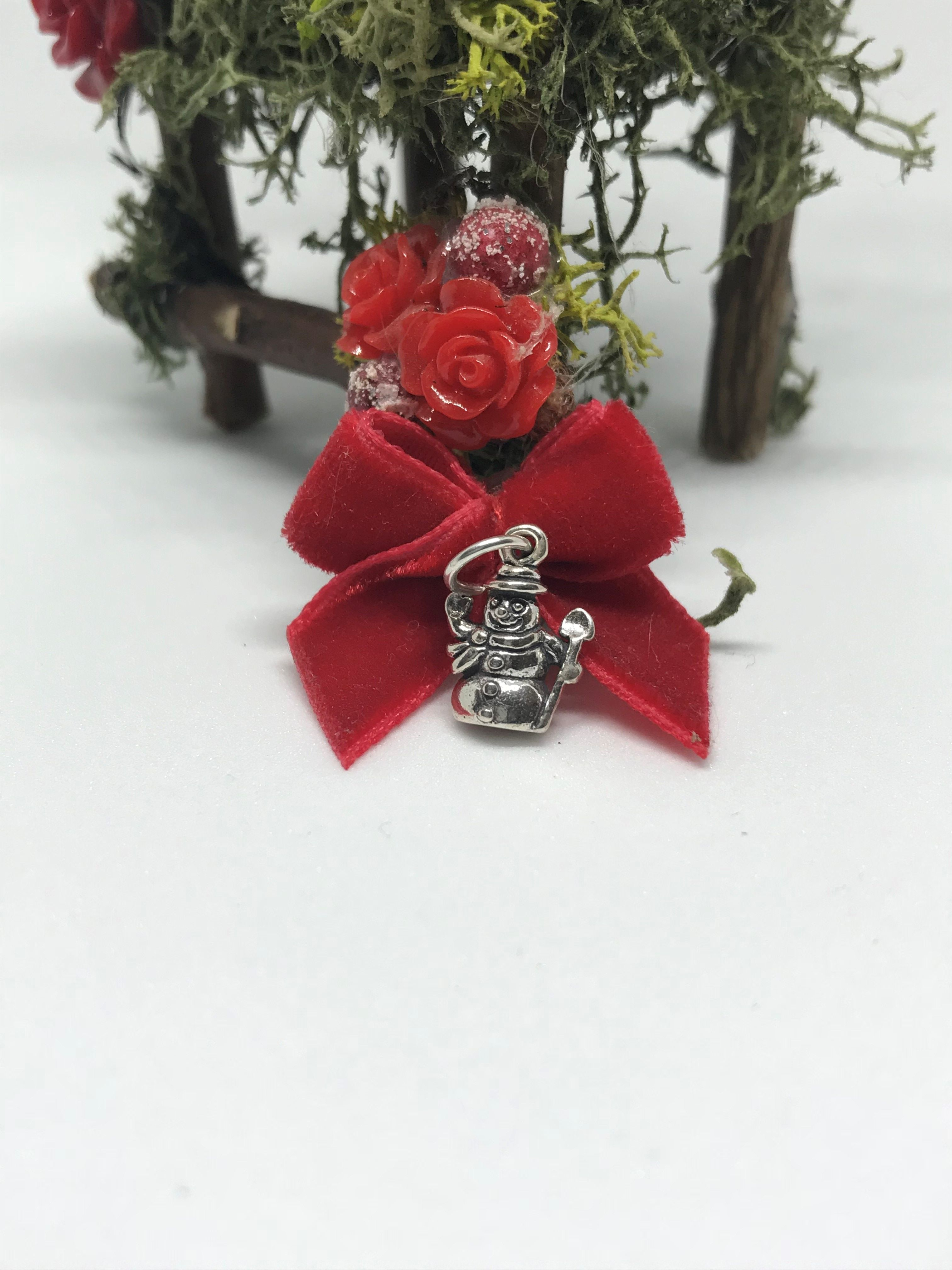 Snowman Charm in Sterling Silver for Christmas
