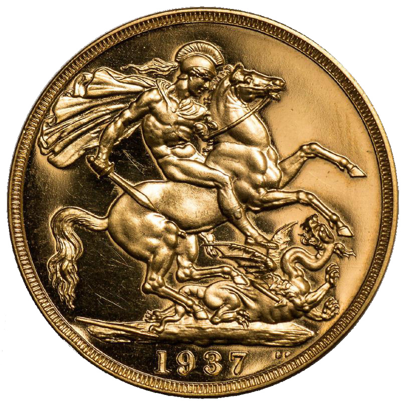1937 George VI Two Pound Sovereign PROOF