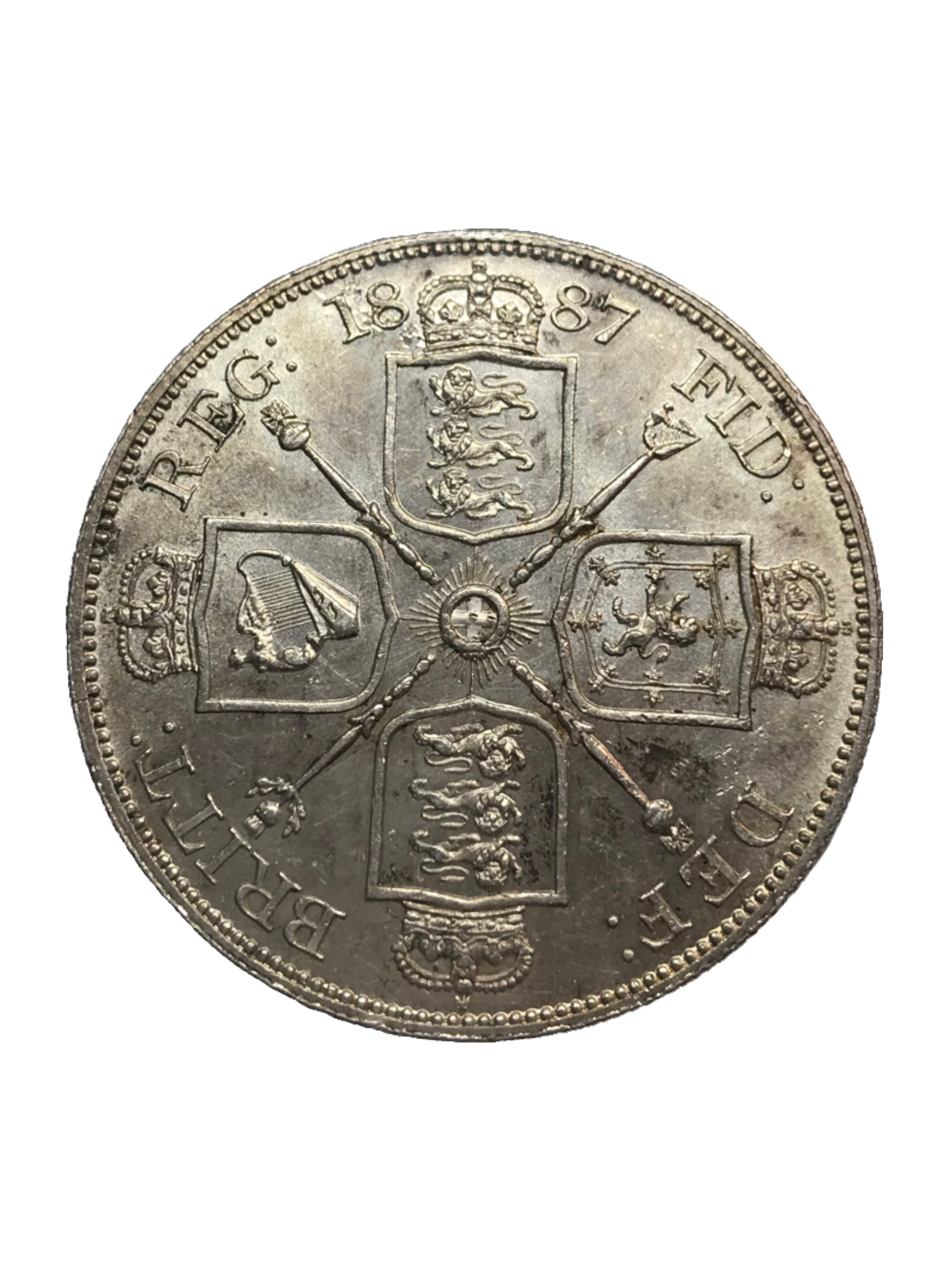 1887 Queen Victoria Double Florin